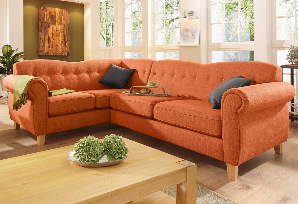Home affaire ecksofa collage online kaufen otto for Ecksofa terracotta