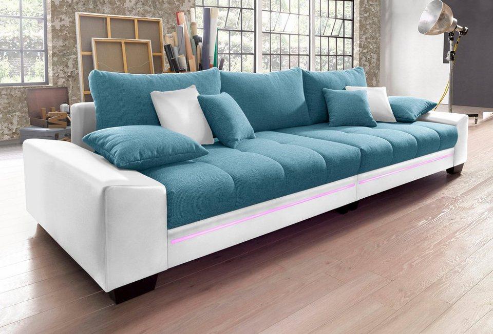 Lovely Big Sofa Mit Beleuchtung, Wahlweise Mit Bluetooth Soundsystem