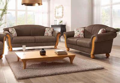Home affaire Sitzgruppe »Milano«, (2-tlg), 2-Sitzer und 3-Sitzer