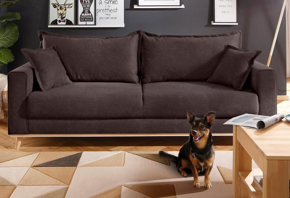 Home affaire 3-Sitzer »Edina«, im skandinavischem Stil in braun