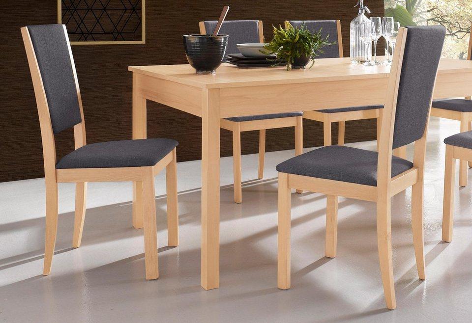 Stühle (2 Stück) in Bezug dunkelschlamm