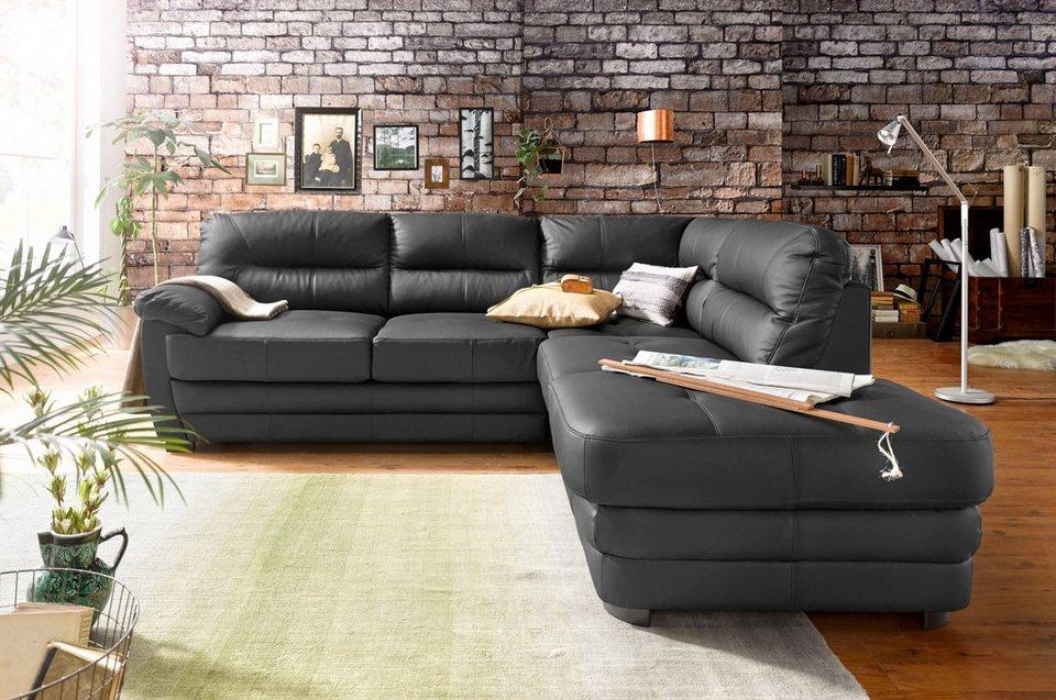 Cotta Polsterecke, wahlweise mit Bettfunktion in schwarz