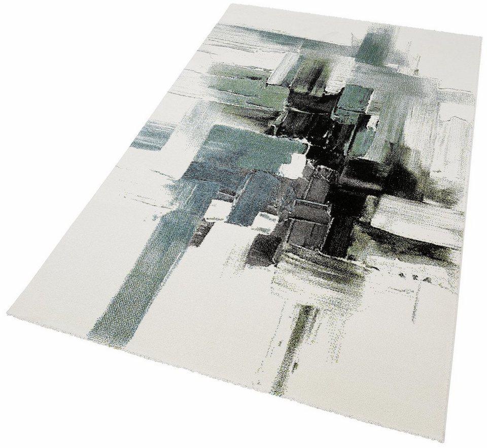 Teppich, Merinos, »BELIS MULTI«, gewebt in blau-grün
