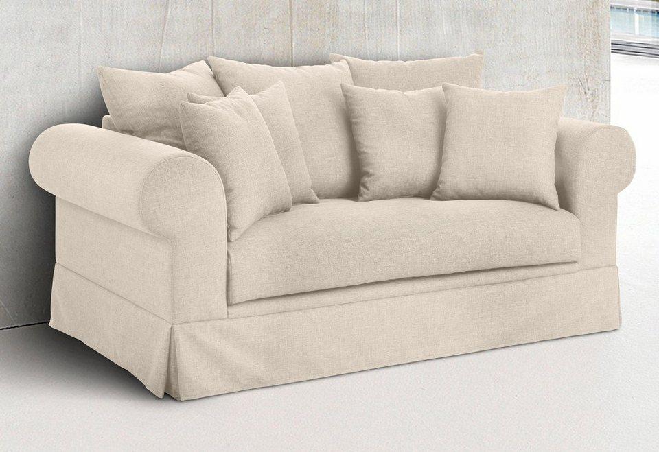Home affaire 2-Sitzer »Palmina«, Hussenoptik in beige