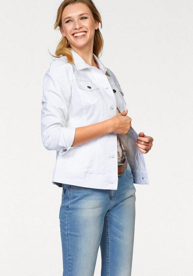 Cheer Jeansjacke mit 4 praktischen Taschen in weiß