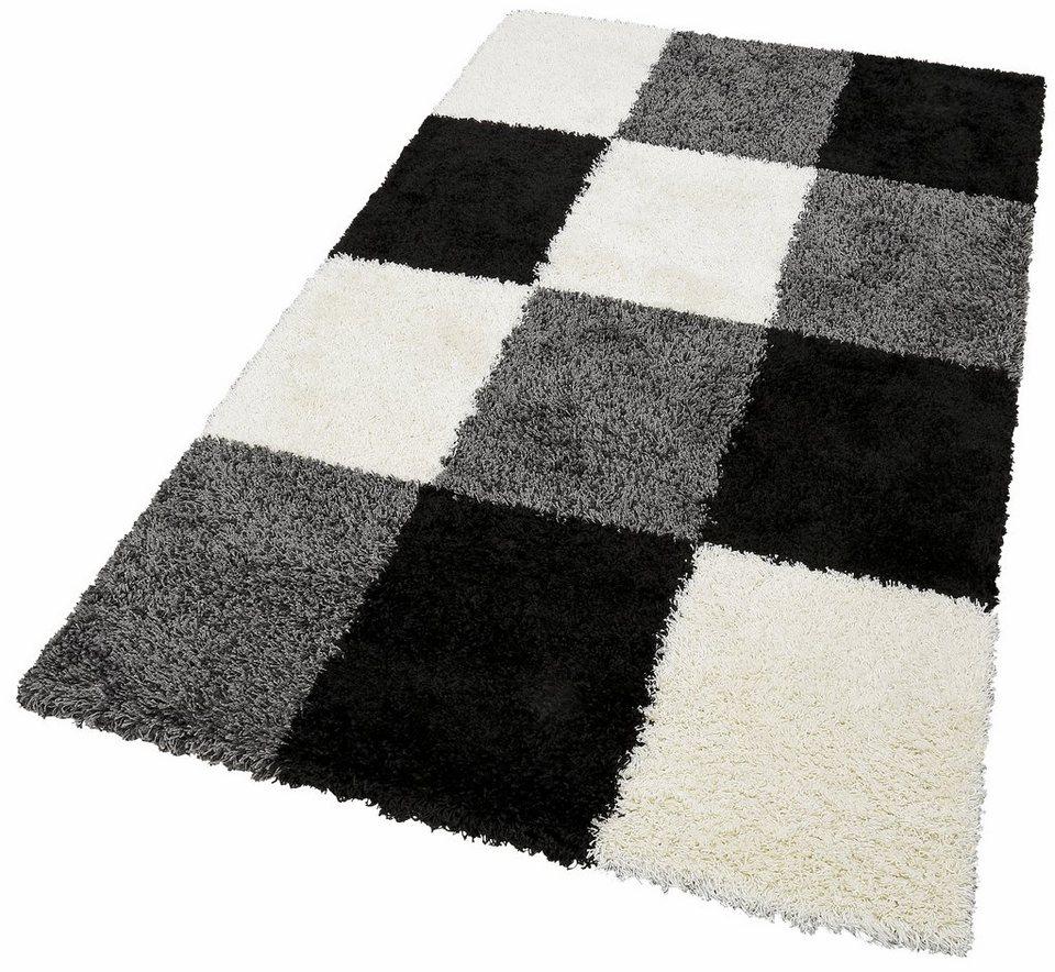 Hochflor-Teppich, merinos, »Denton«, Höhe 50 mm, gewebt in schwarz