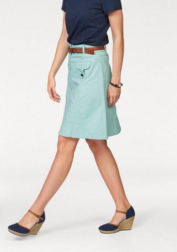 Aniston CASUAL Jeansrock mit figurfreundlichen Teilungsnähten