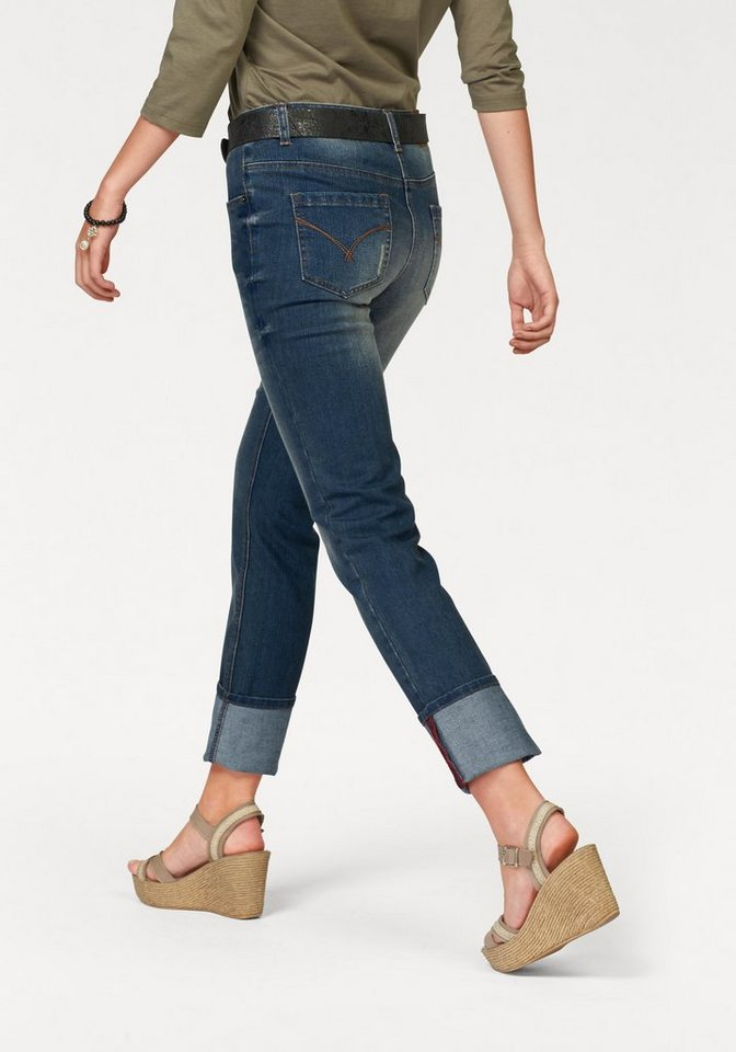 Cheer 5-Pocket-Jeans in blue-used