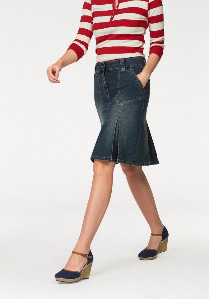 4c83ee84716e Aniston CASUAL Jeansrock mit eingelegten Falten | OTTO