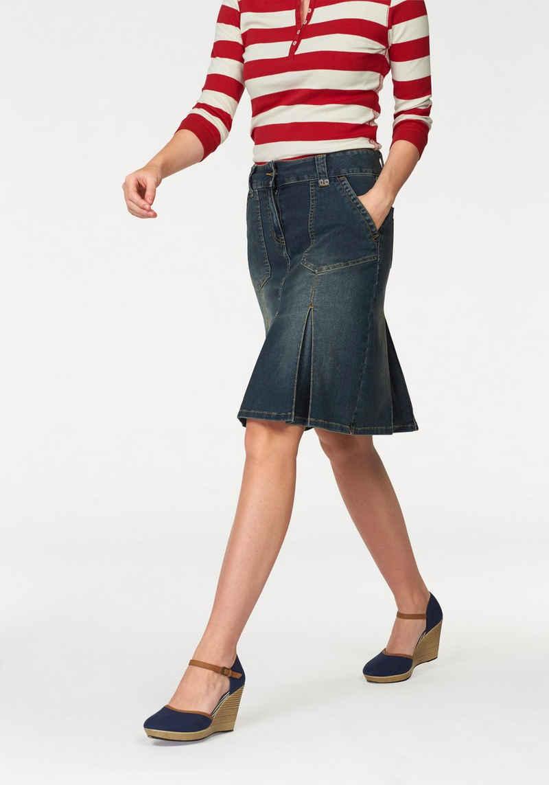 Aniston CASUAL Jeansrock mit eingelegten Falten
