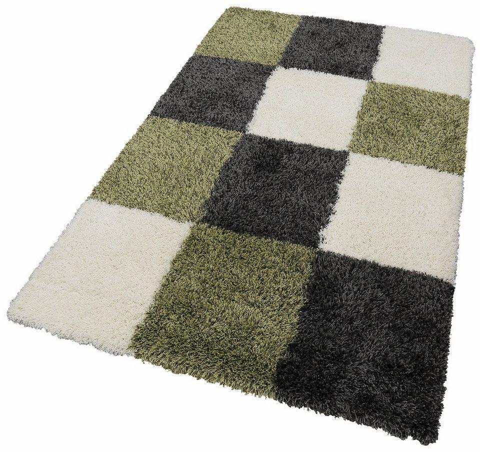 Hochflor-Teppich, merinos, »Denton«, Höhe 50 mm, gewebt in grün