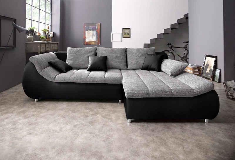 my home Ecksofa »Liliana«, wahlweise mit Bettfunktion
