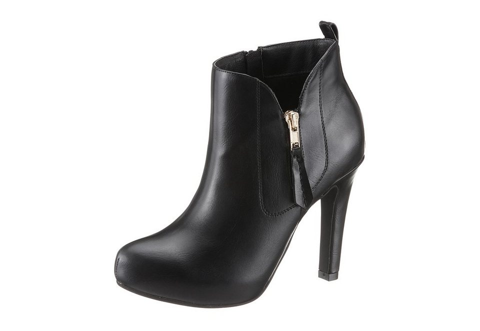 Buffalo High Heel Stiefelette in schwarz