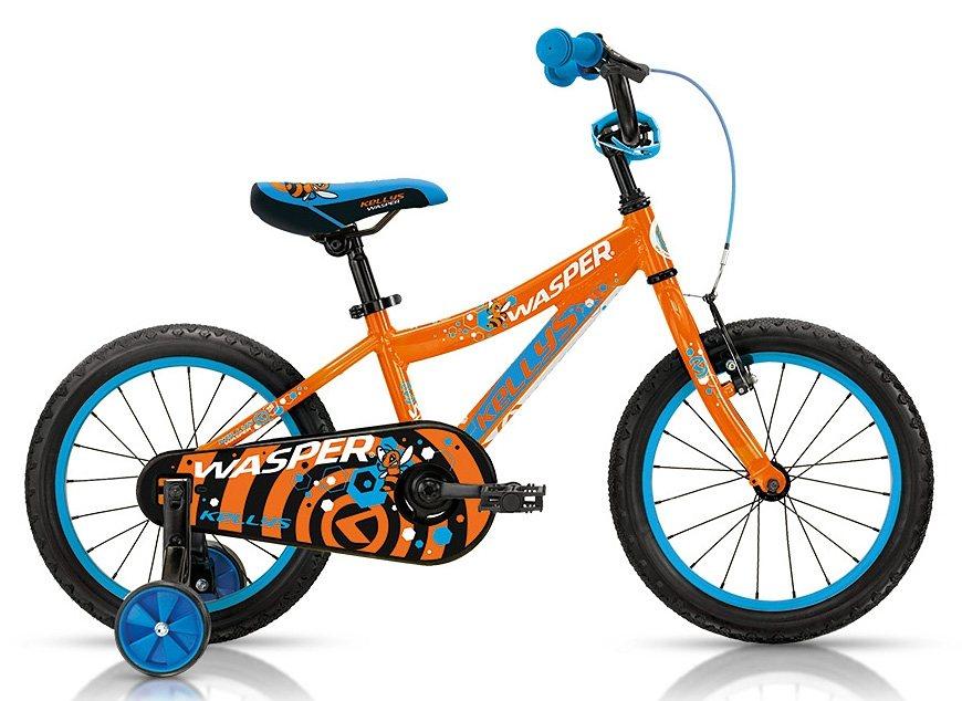 Kellys Kinderfahrrad, 16 Zoll, 1 Gang Shimano Kettenschaltung, Rücktritt, »Wasper Orange« in orange