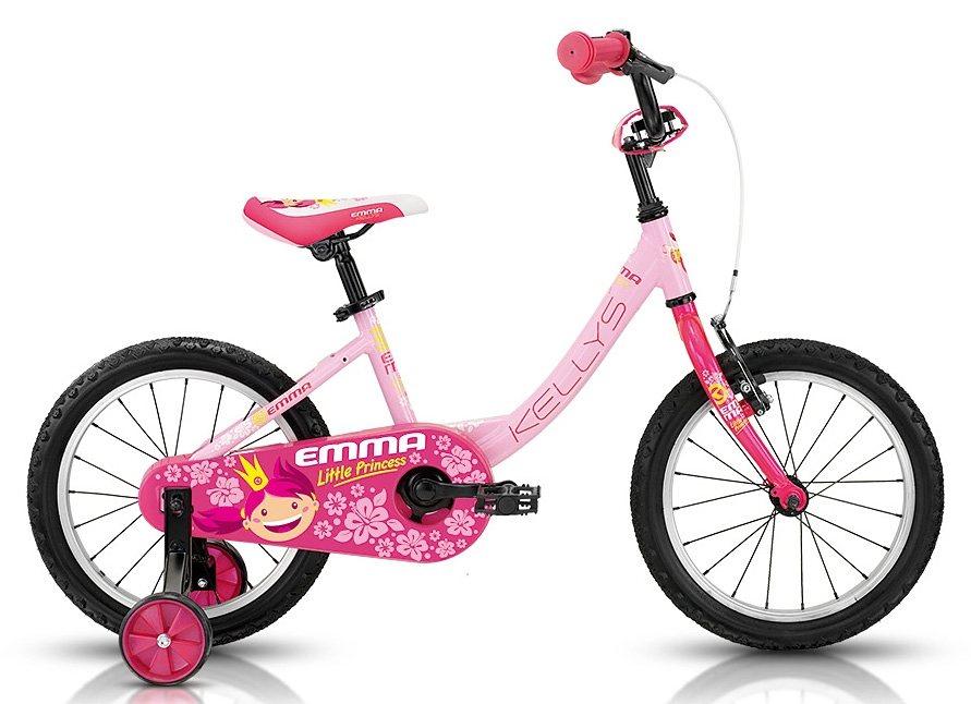 Kellys Kinderfahrrad, 16 Zoll, 1 Gang Shimano Kettenschaltung, Rücktritt, »Emma Pink« in rosa
