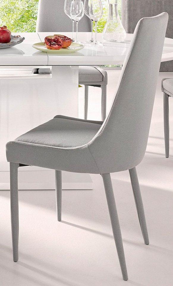 Stühle (2 Stück) in hellgrau