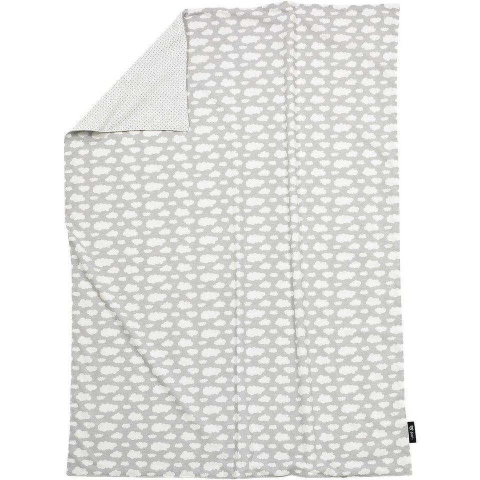 Alvi Babydecke, Jersey, Wolke, silber, 75 x 100 cm in silber