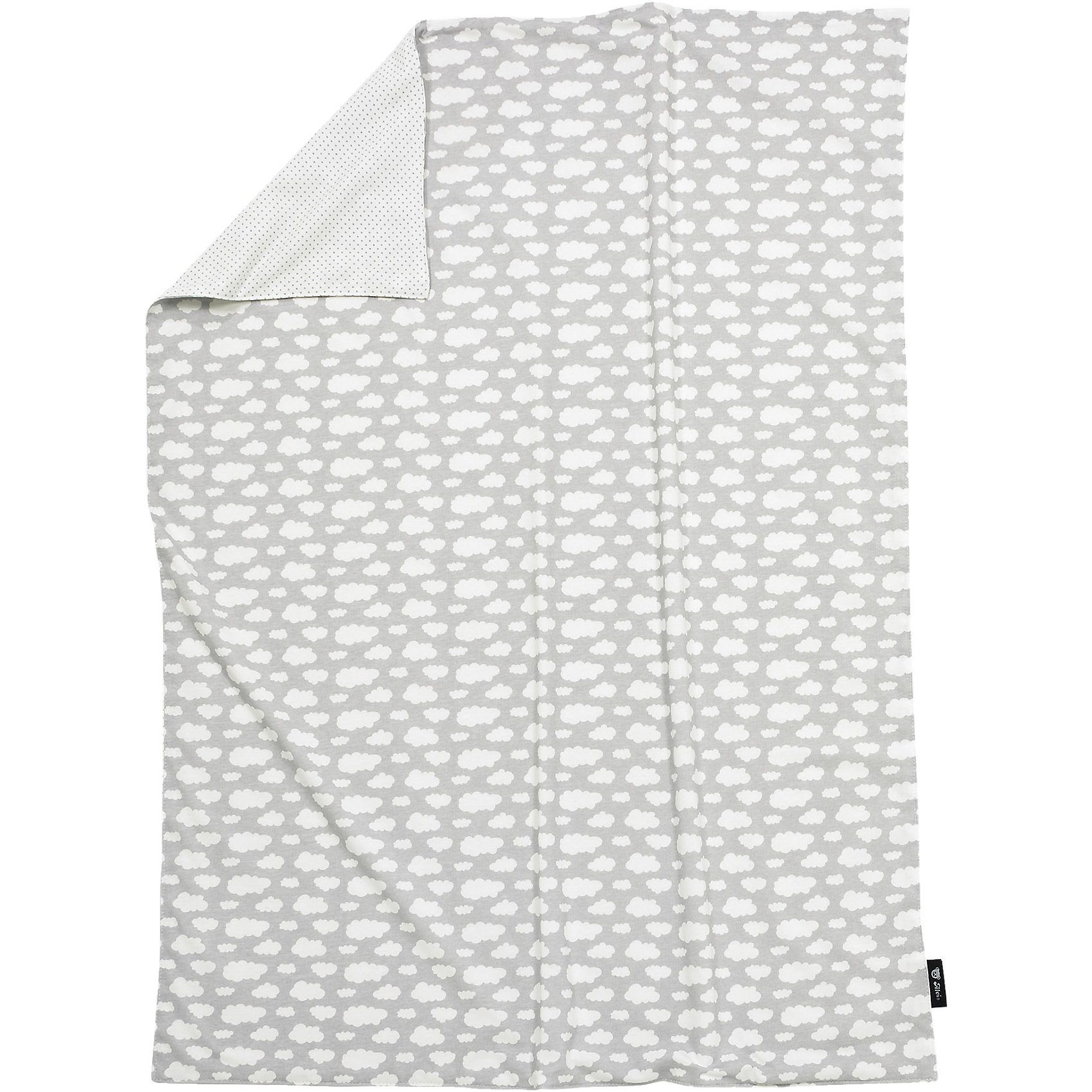 Alvi Babydecke, Jersey, Wolke, silber, 75 x 100 cm