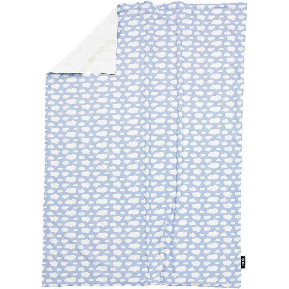 Alvi Babydecke, Jersey, Wolke, blau, 75 x 100 cm in blau