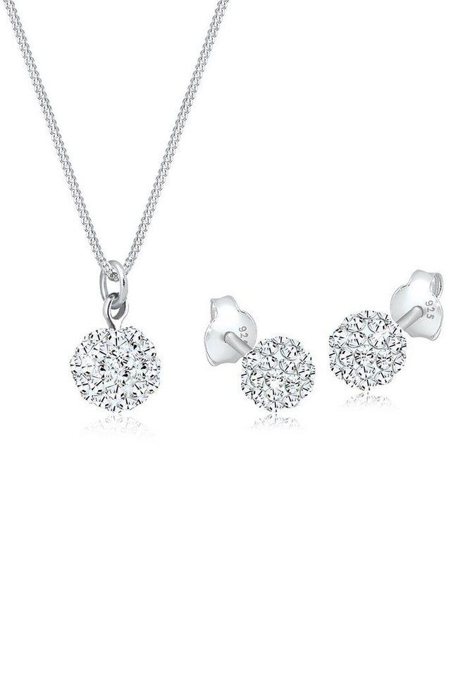 Elli Schmuckset »Swarovski® Kristalle Silber« | Schmuck > Schmucksets | Weiß | Elli