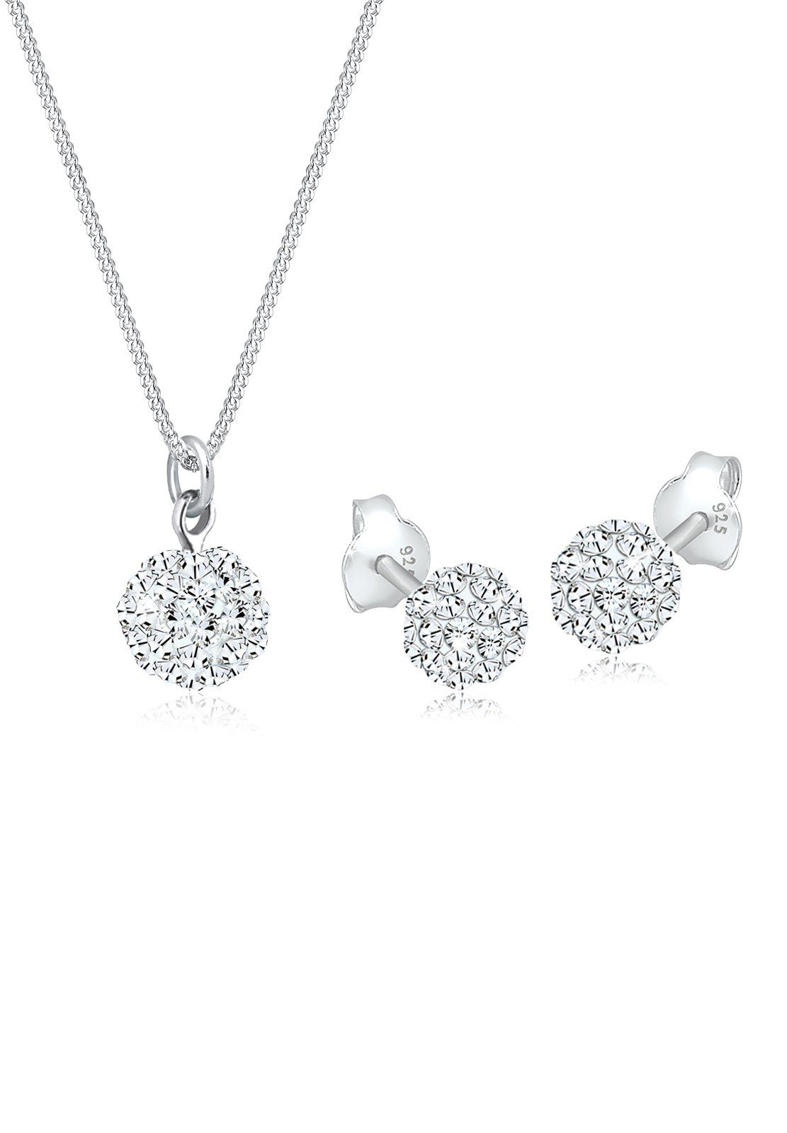Elli Schmuckset »Swarovski® Kristalle Silber«