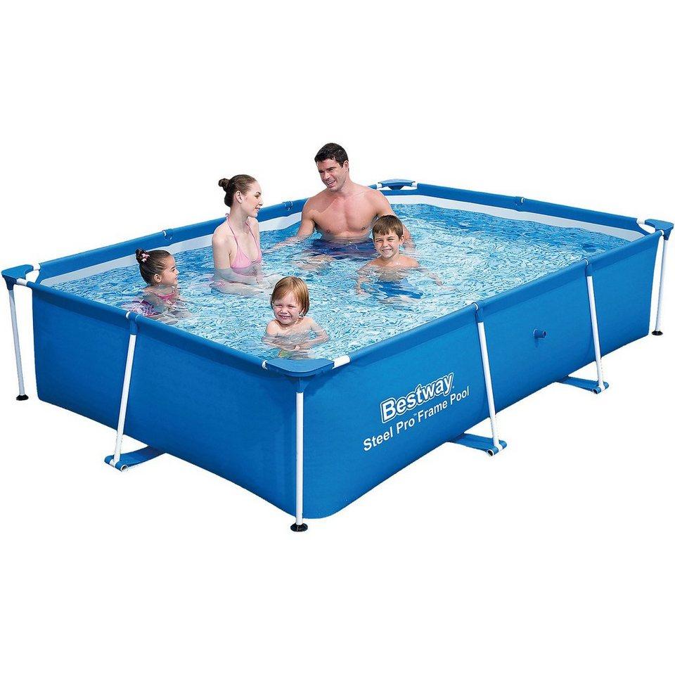 Bestway Frame Pool Deluxe Splash Jr. - Steel Pro 259 x 170 x 61 cm ...