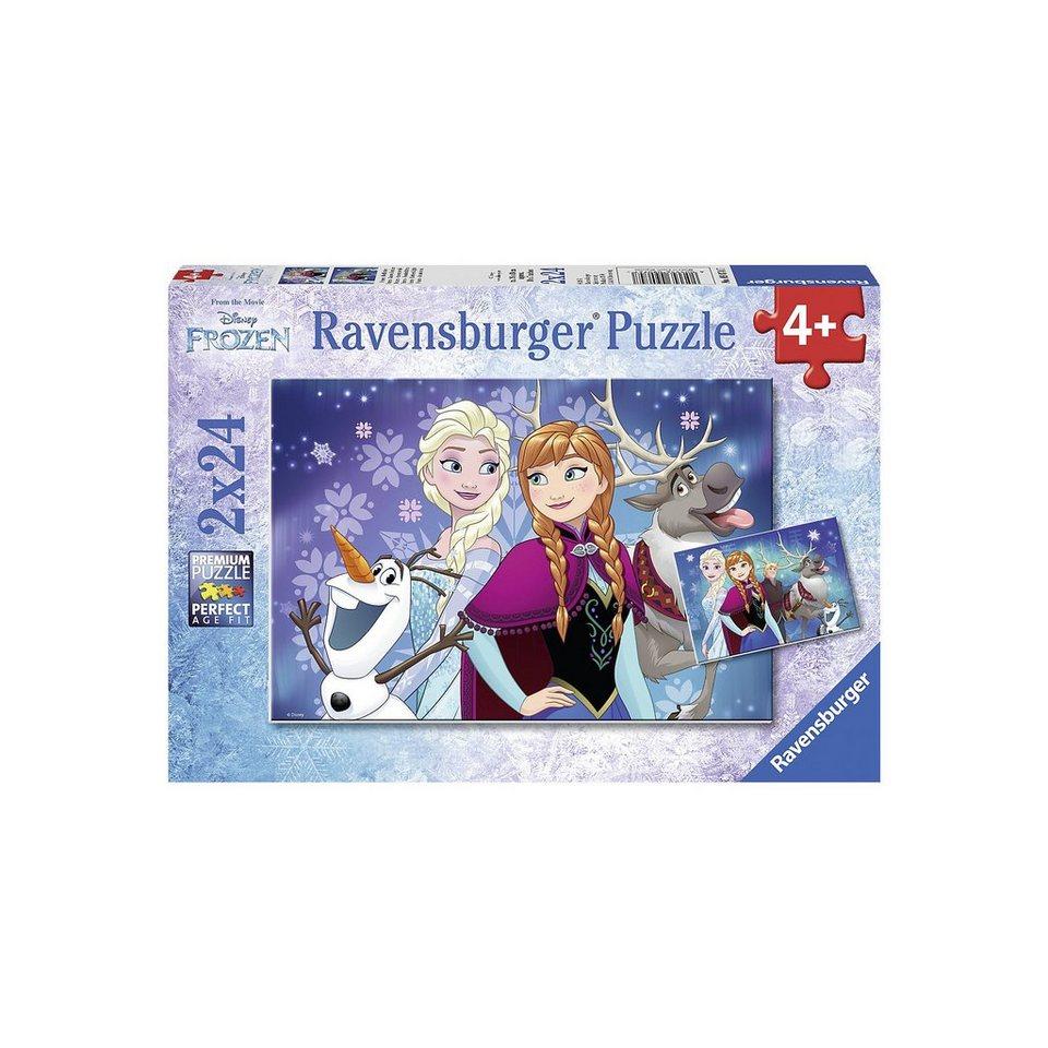 Ravensburger Puzzle Disney Die Eiskönigin Nordlichter 2 x 24 Teile