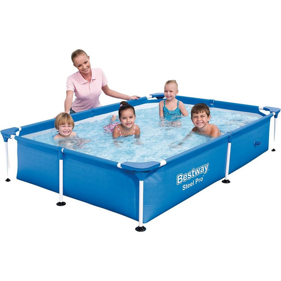 bestway frame pool splash jr steel pro 221 x 150 x 43cm. Black Bedroom Furniture Sets. Home Design Ideas