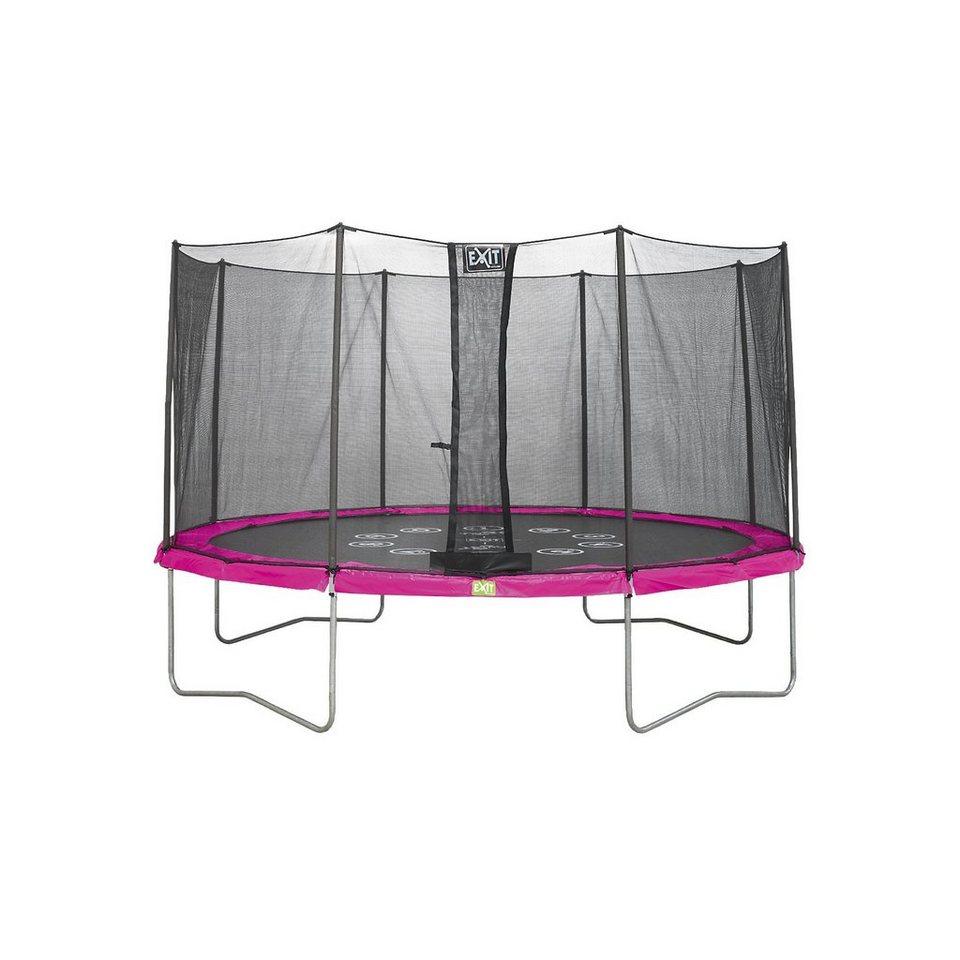 exit twist trampolin pink grau 366 cm kaufen otto. Black Bedroom Furniture Sets. Home Design Ideas