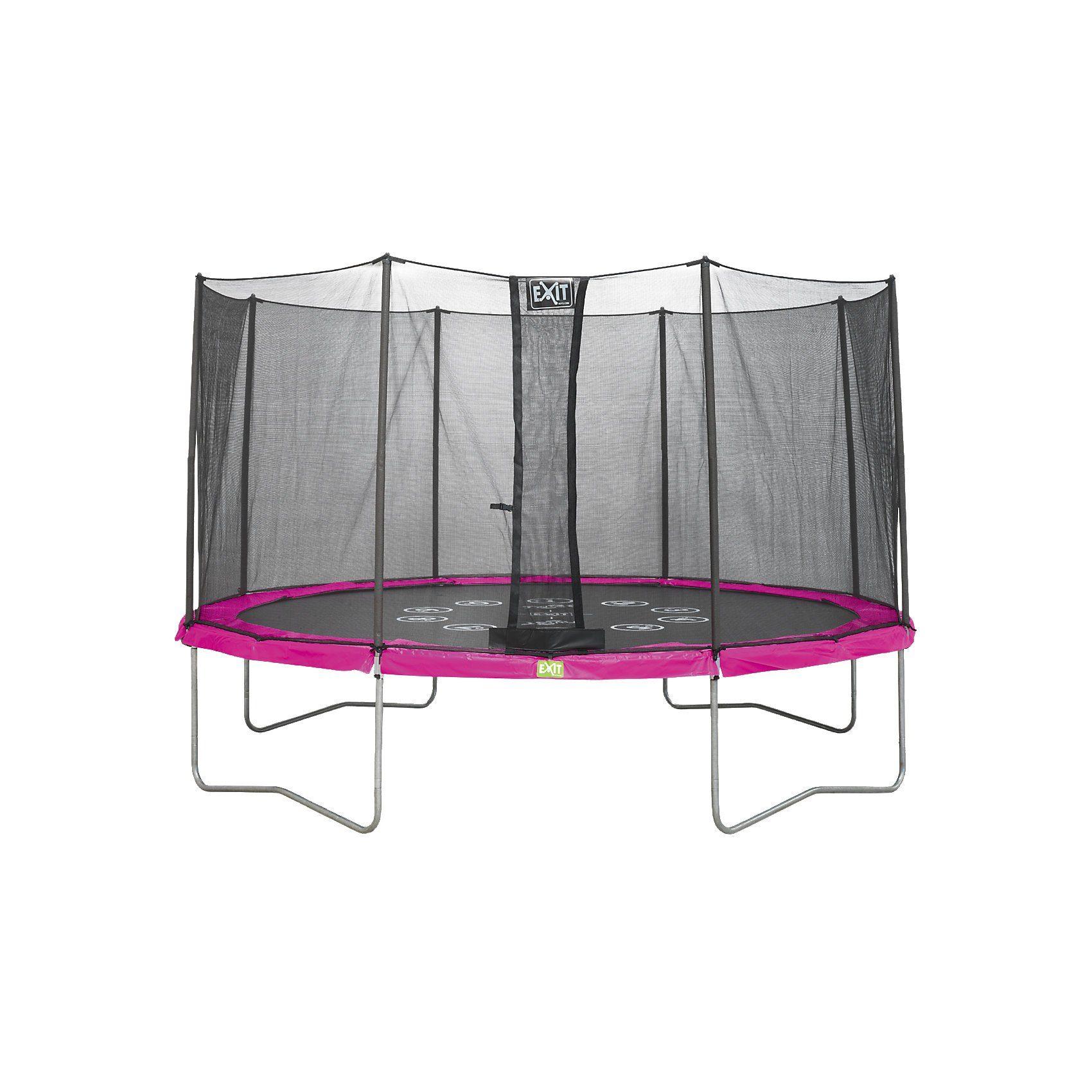EXIT Twist Trampolin pink/grau, 366 cm