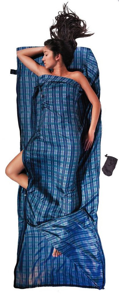 Cocoon Schlafsack »TravelSheet-Coupler Inlet Silk« in blau