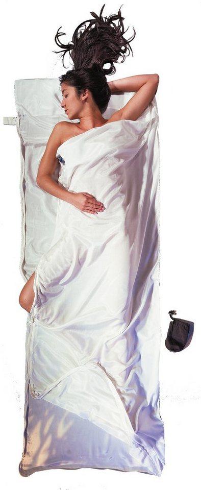 Cocoon Schlafsack »TravelSheet-Coupler Inlet Silk Cotton« in weiß