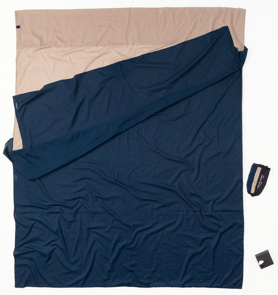 Cocoon Schlafsack »TravelSheet Inlet Doublesize Egyptian Cotton« in blau