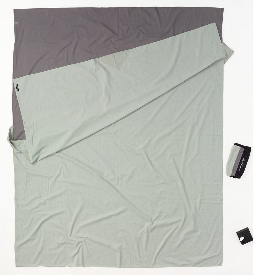Cocoon Schlafsack »TravelSheet Inlet Doublesize Cotton« in grau