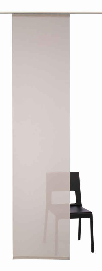 Schiebegardine »Galena Uni«, Neutex for you!, Klettband (1 Stück), inkl. Befestigungszubehör, Breite: 57 cm