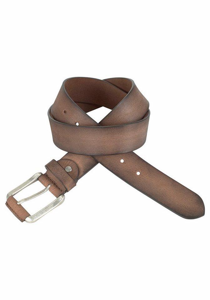J. Jayz Ledergürtel mit teilbezogener Schließe in braun