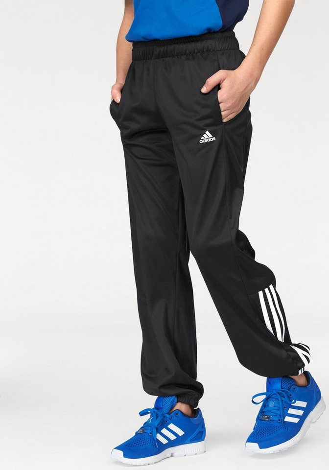 adidas Performance ESSENTIALS MID 3 STRIPES PES PANT Trainingshose in Schwarz