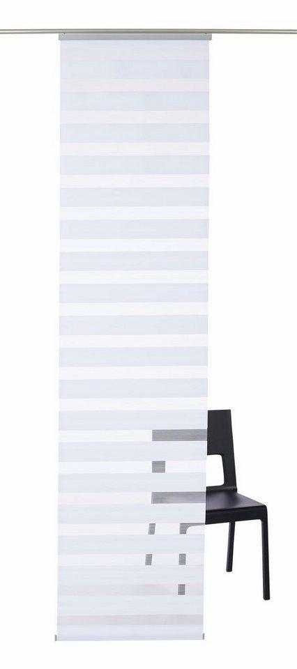 Schiebegardine, K-home, »Sizilien«, mit Paneelwagen, mit Doppelrollo-Optik (1 Stück mit Zubehör) in weiß