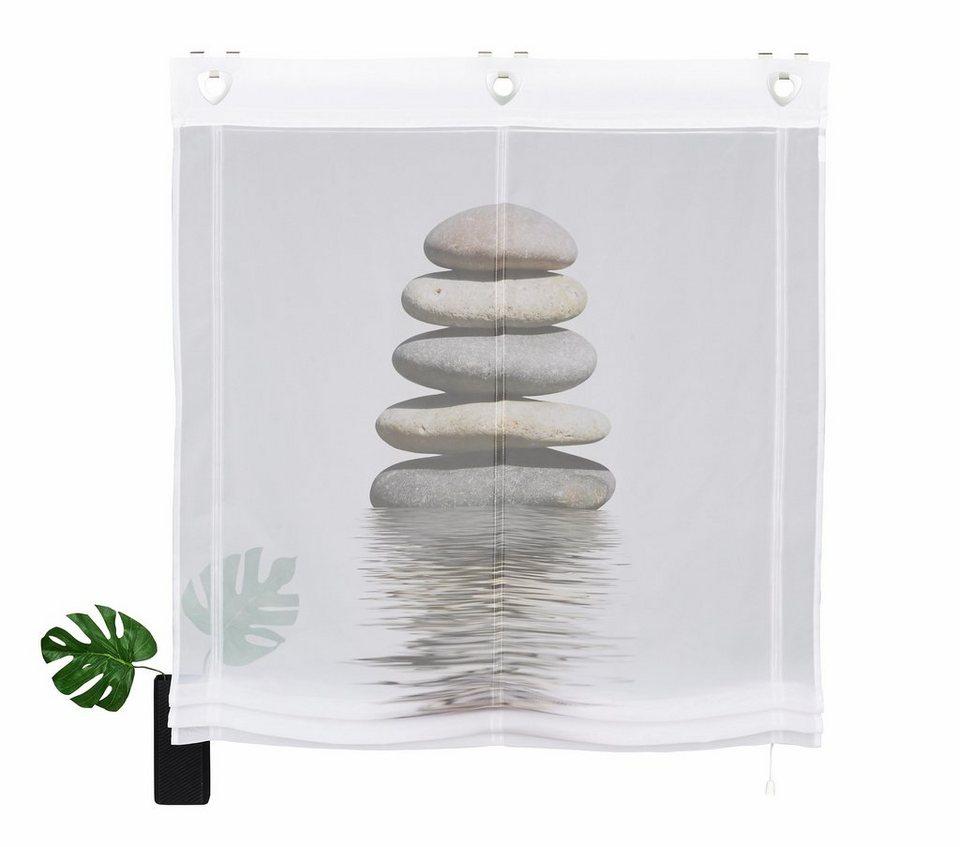Raffrollo, Home wohnideen, »Steine« (1 Stück) in schwarz-weiß