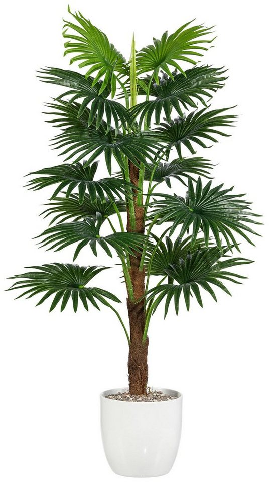 Kunstpflanze »Fächerpalme« inkl. Pflanzgefäß (H: 110 cm) in grün