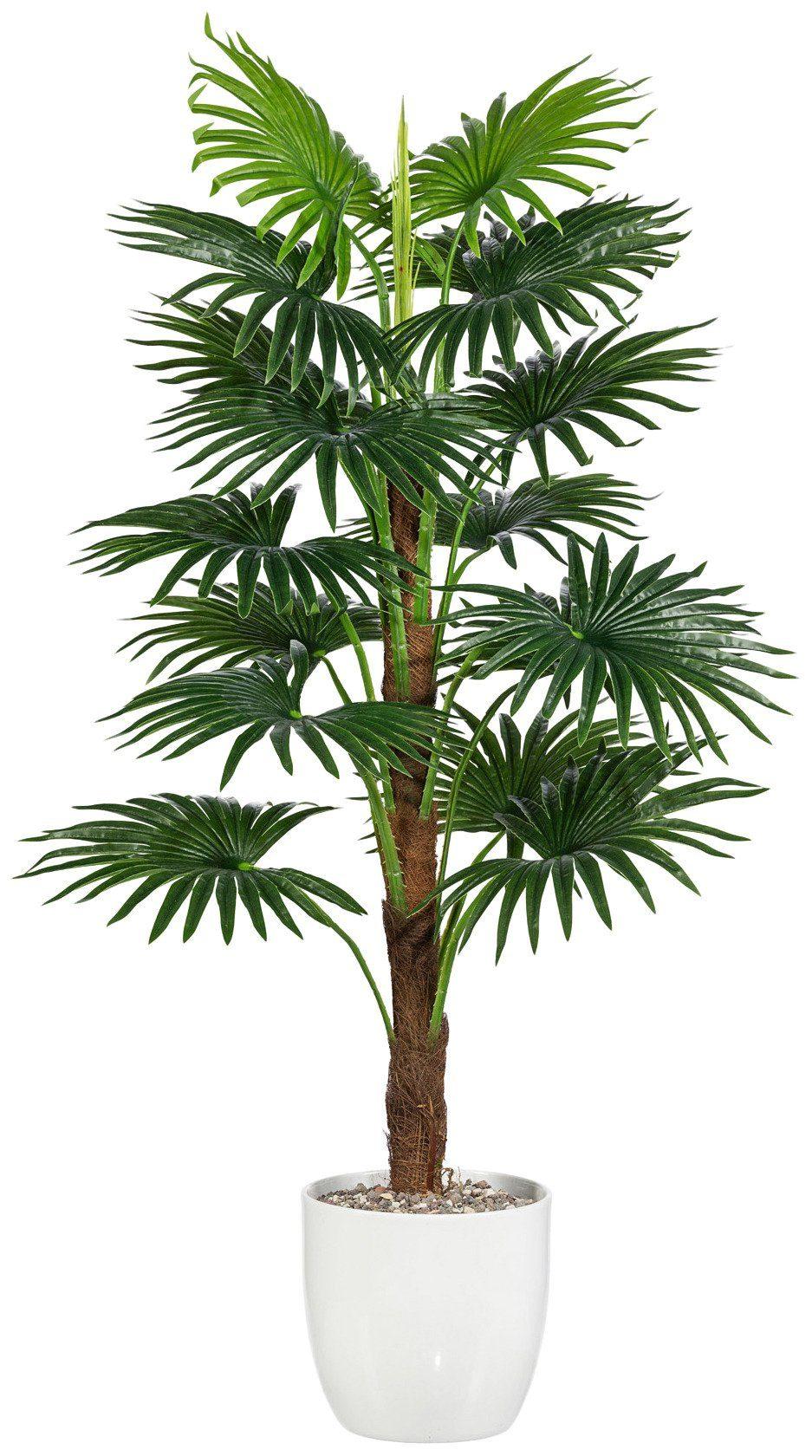 Kunstpflanze »Fächerpalme« inkl. Pflanzgefäß (H: 110 cm)