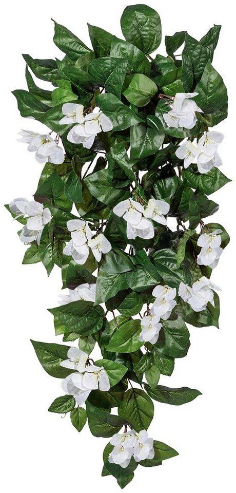 Kunstpflanze »Bougainvilleahänger« weiß (H:90 cm) in weiß