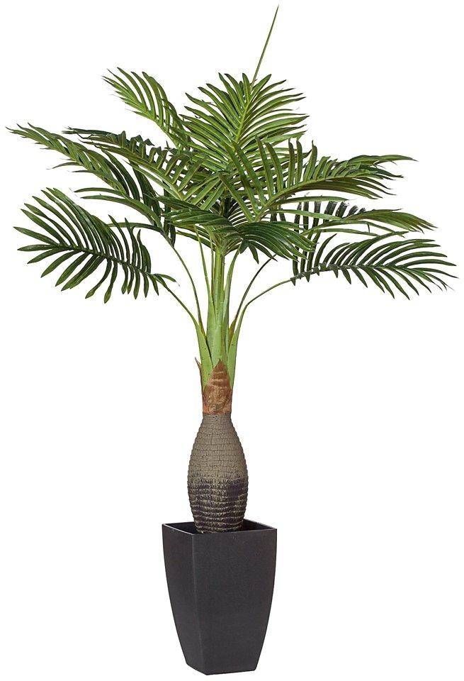 Kunstpflanze »Arecapalme« inkl. Pflanzgefäß (H: 90 cm) in grün