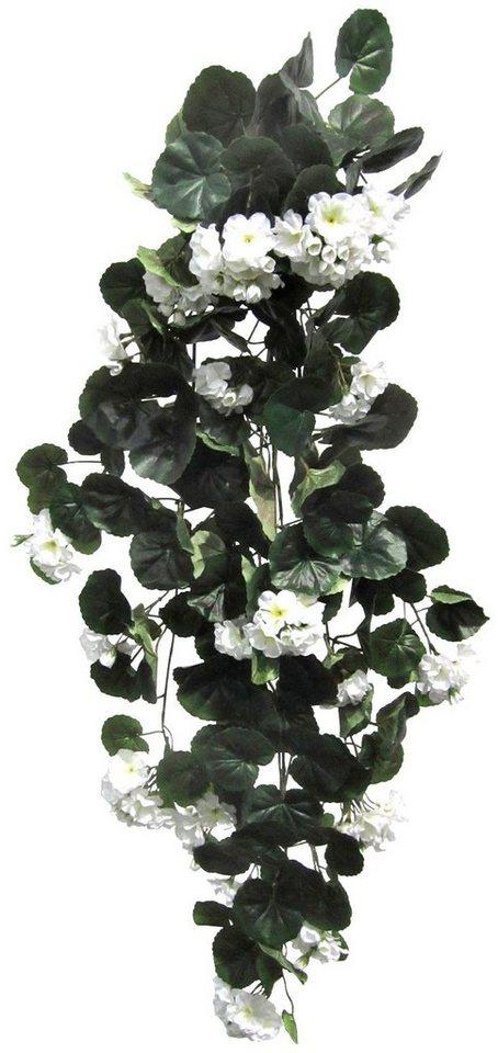Kunstpflanze »Geranienhänger« weiß (H: 90 cm) in weiß