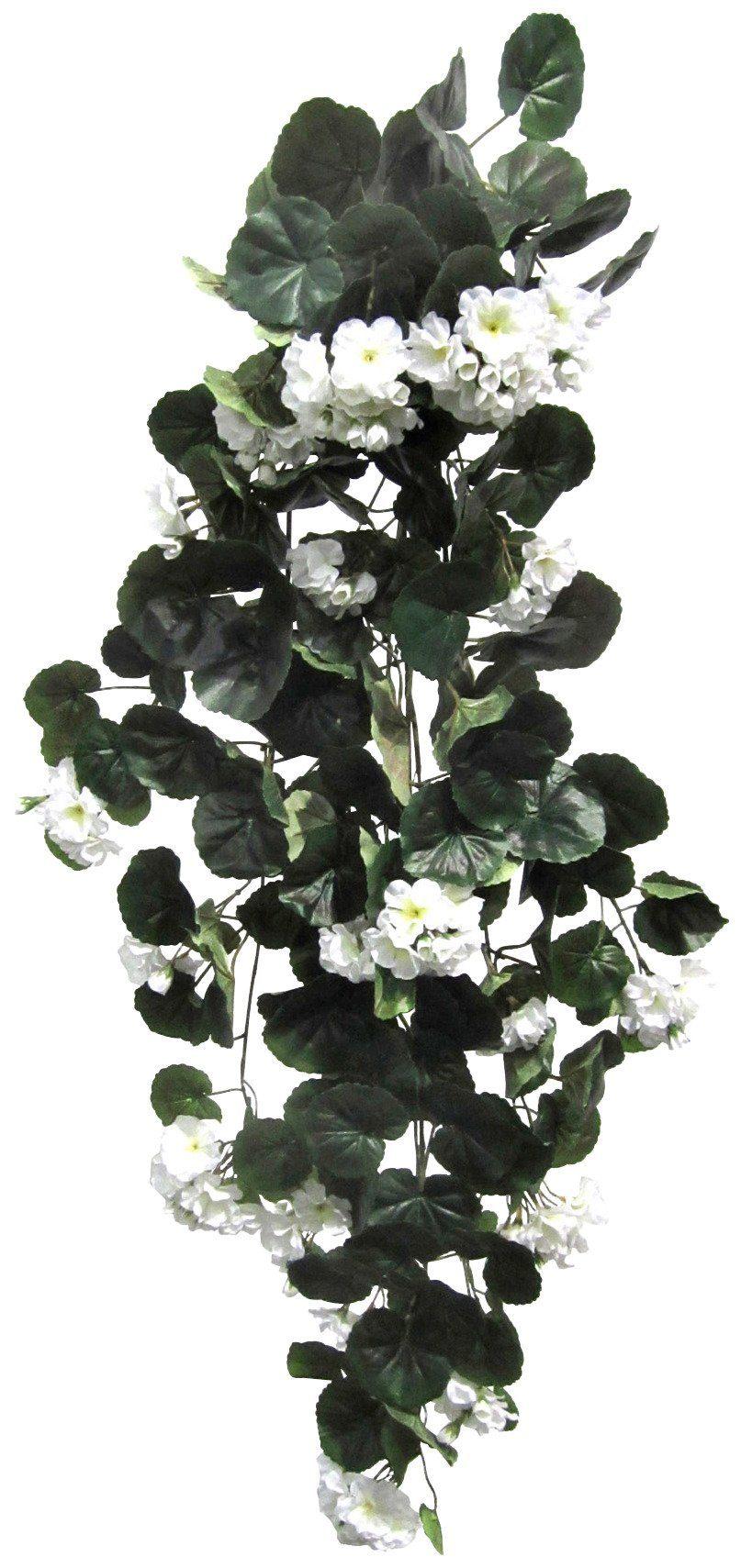 Kunstpflanze »Geranienhänger« weiß (H: 90 cm)
