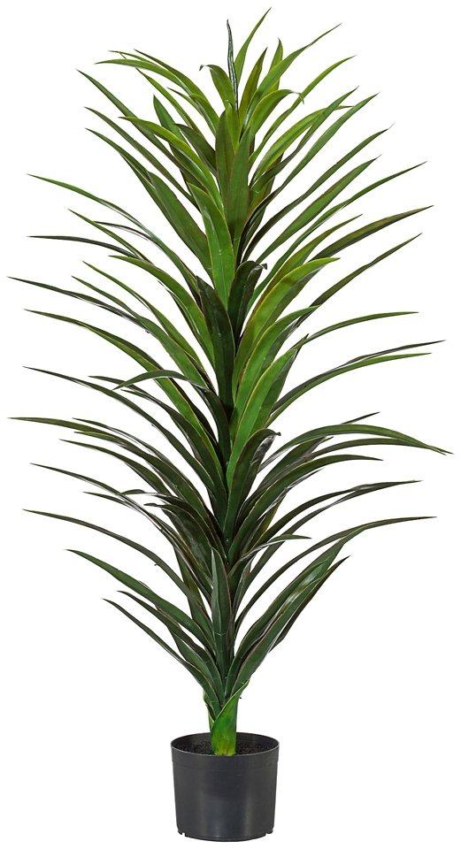 Kunstpflanze »Yucca« inkl. Pflanzgefäß in grün