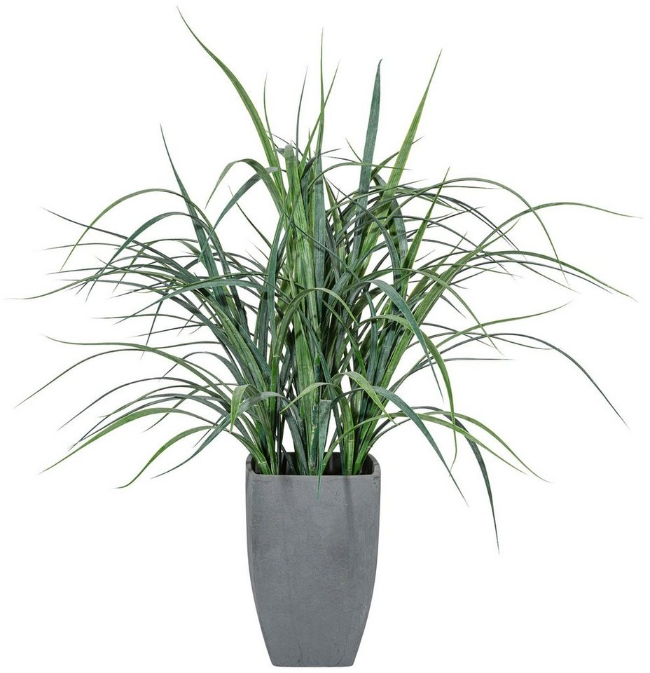 Kunstpflanze »Flussgras« inkl. Pflanzgefäß (H: 50 cm) in grün