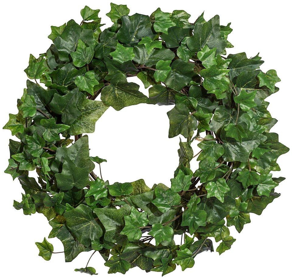 Kunstpflanze »Englischer Efeukranz« in grün