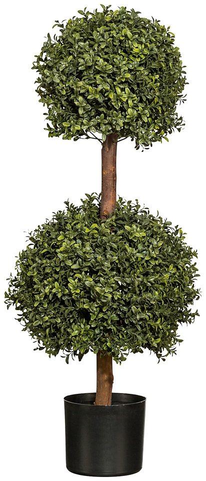 Kunstpflanze »Buchskugelbaum« inkl. Pflanzgefäß (H: 90 cm) in grün