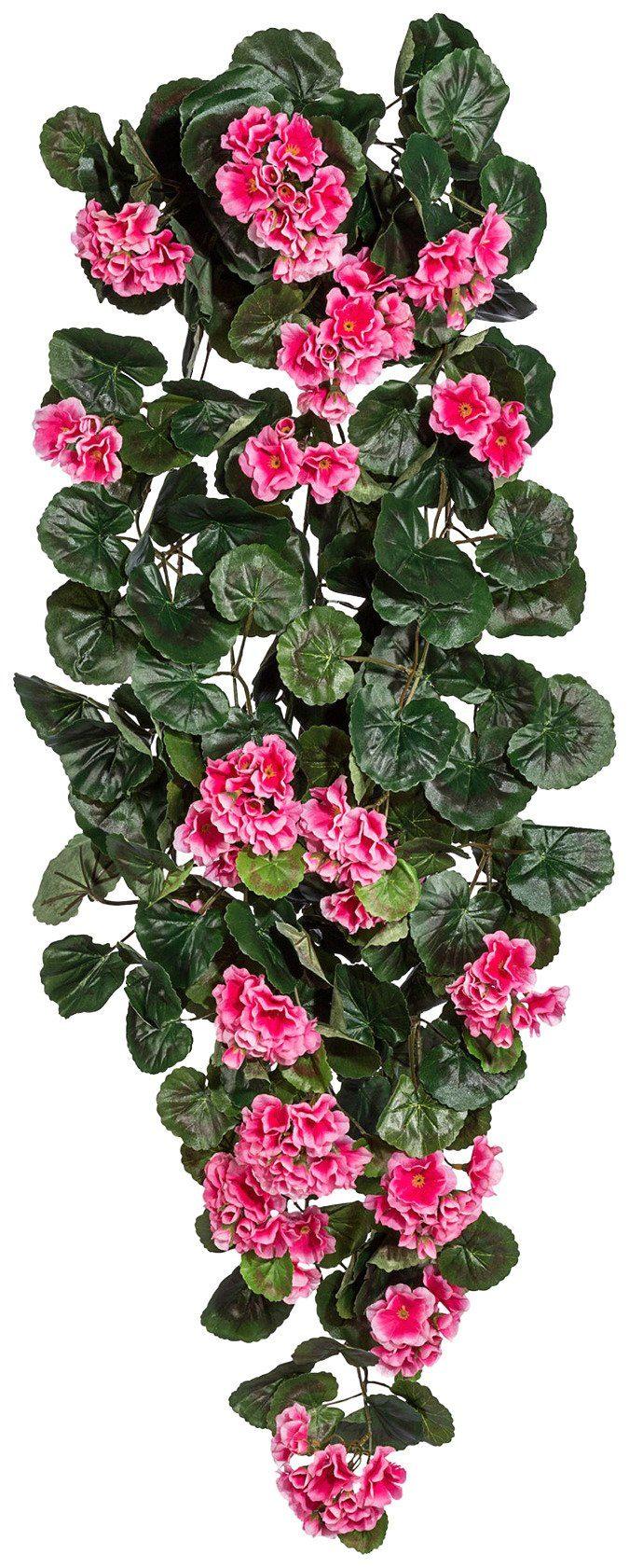 Kunstpflanze »Geranienhänger« pink (H: 90 cm)